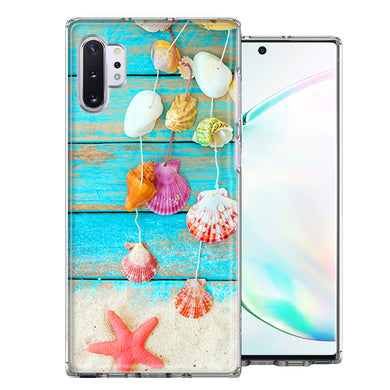 Samsung Galaxy Note 10 Seashell Wind chimes Design Double Layer Phone Case Cover