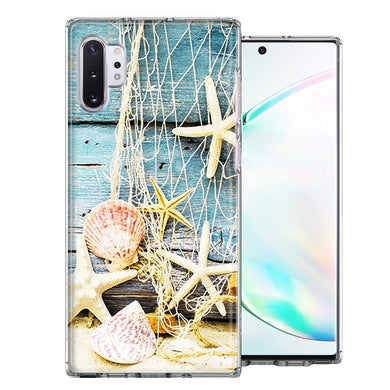 Samsung Galaxy Note 10 Starfish Net Design Double Layer Phone Case Cover