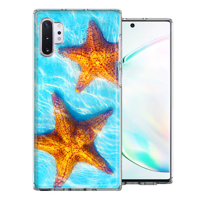 Samsung Galaxy Note 10 Ocean Starfish Design Double Layer Phone Case Cover
