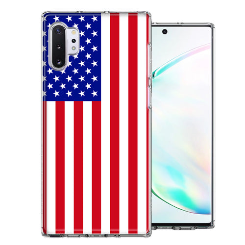 Samsung Galaxy Note 10 Plus USA American Flag  Design Double Layer Phone Case Cover