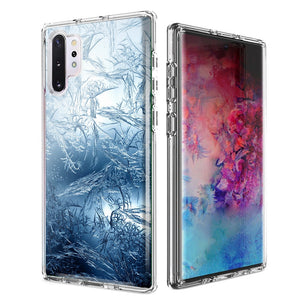 For Samsung Galaxy Note 10 Plus + Blue Ice Design Double Layer Phone Case Cover