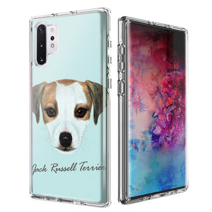 For Samsung Galaxy Note 10 Plus + Jack Russell Design Double Layer Phone Case Cover