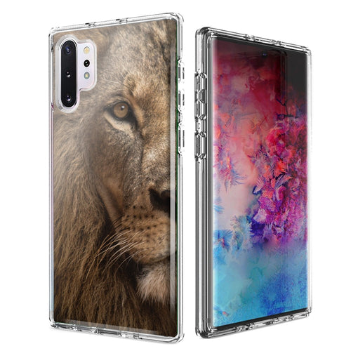 For Samsung Galaxy Note 10 Lion Face Nosed Design Double Layer Phone Case Cover