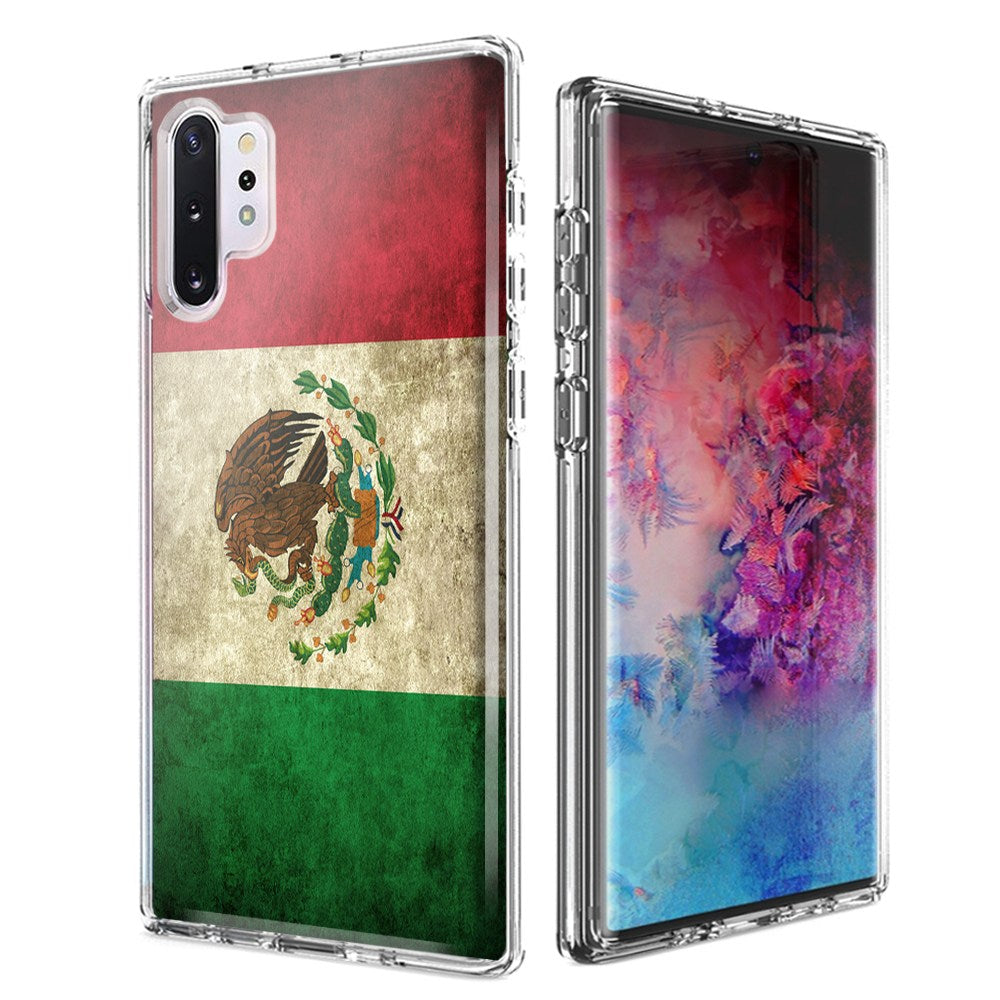 For Samsung Galaxy Note 10 Plus + Mexico Flag Design Double Layer Phone Case Cover