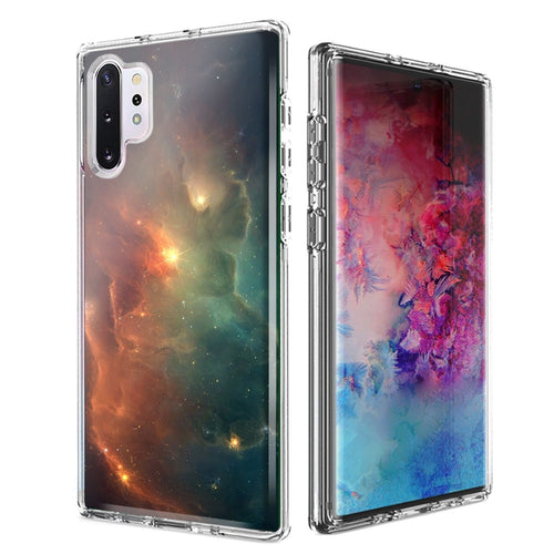 For Samsung Galaxy Note 10 Nebula Design Double Layer Phone Case Cover