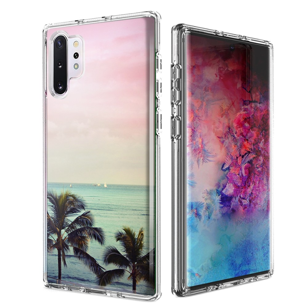 For Samsung Galaxy Note 10 Plus + Vacation Dreaming Design Double Layer Phone Case Cover