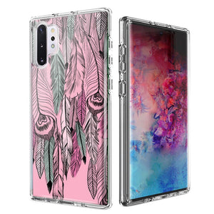 For Samsung Galaxy Note 10 Plus + Wild Feathers Design Double Layer Phone Case Cover