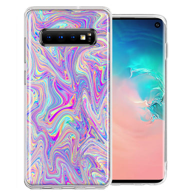 Samsung Galaxy S10 Plus Paint Swirl Design Double Layer Phone Case Cover