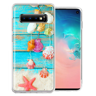 Samsung Galaxy S10 Plus Seashell Wind chimes Design Double Layer Phone Case Cover