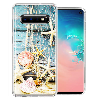 Samsung Galaxy S10 Plus Starfish Net Design Double Layer Phone Case Cover