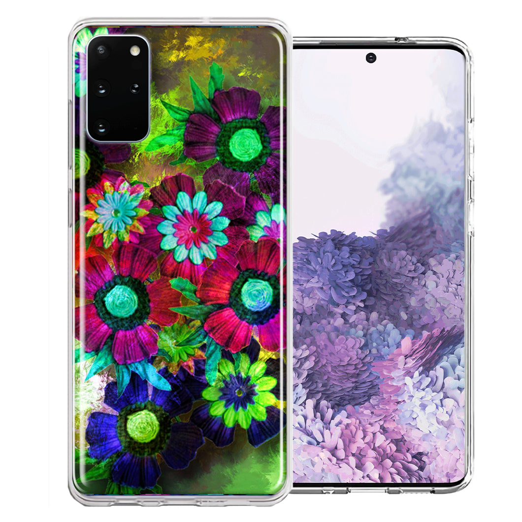 Samsung Galaxy S20 Colorful Daisies Design Double Layer Phone Case Cover