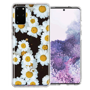 Samsung Galaxy S20 Plus Cute Daisy Flower Design Double Layer Phone Case Cover