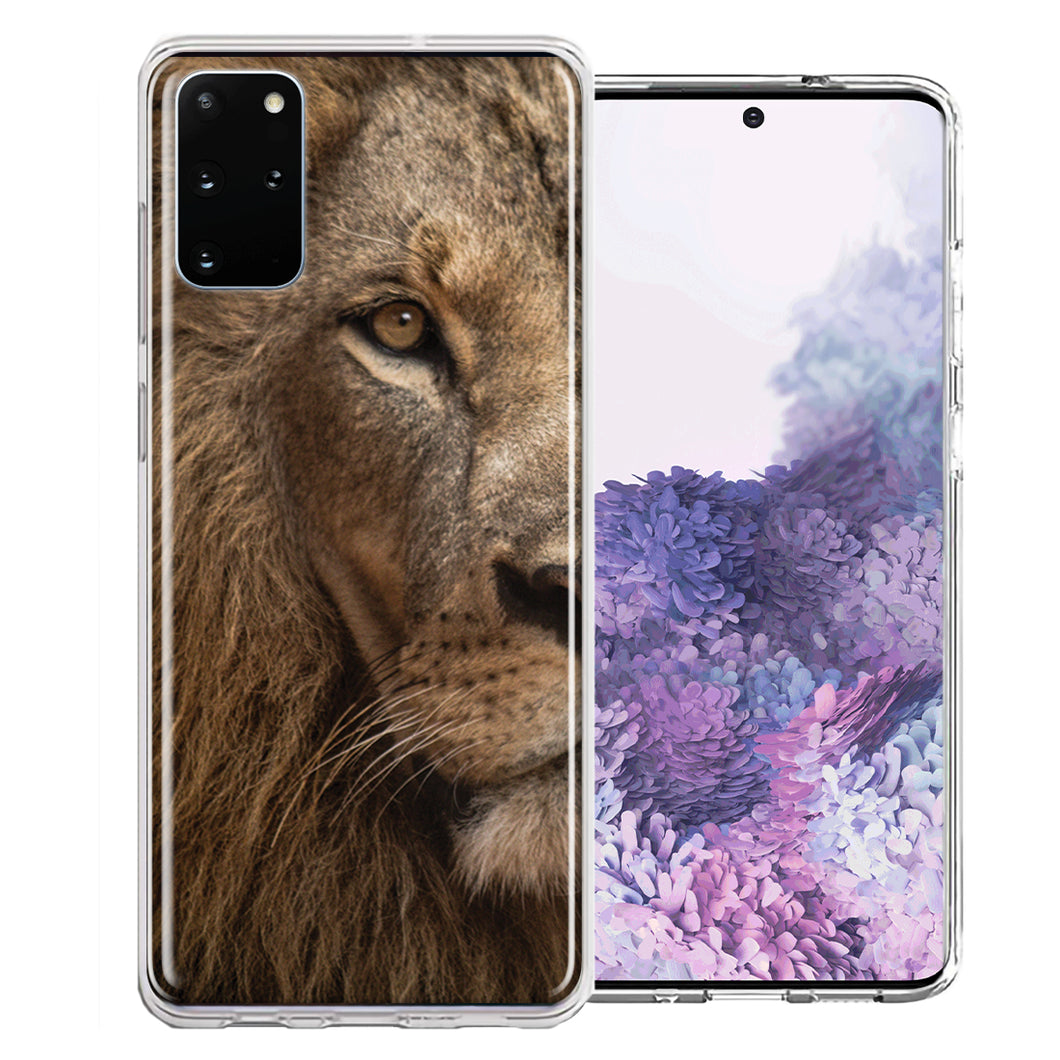 Samsung Galaxy S20 Plus Lion Face Nosed Design Double Layer Phone Case Cover