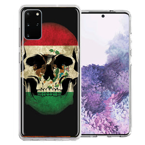 Samsung Galaxy S20 Mexico Flag Skull Design Double Layer Phone Case Cover