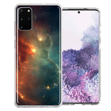 Samsung Galaxy S20 Plus Nebula Design Double Layer Phone Case Cover