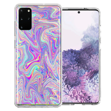 Samsung Galaxy S20 Plus Paint Swirl Design Double Layer Phone Case Cover