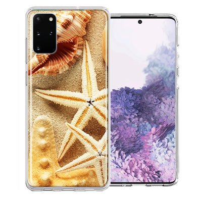 Samsung Galaxy S20 Sand Shells Starfish Design Double Layer Phone Case Cover
