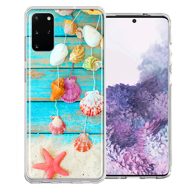 Samsung Galaxy S20 Plus Seashell Wind chimes Design Double Layer Phone Case Cover