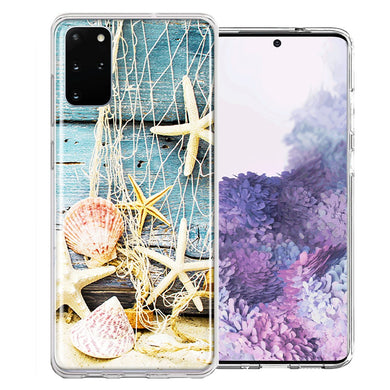 Samsung Galaxy S20 Starfish Net Design Double Layer Phone Case Cover