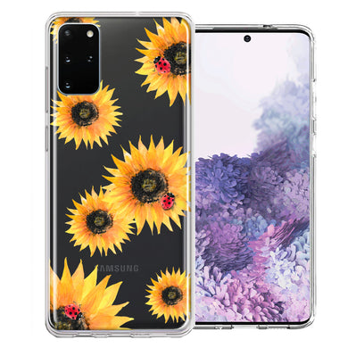 Samsung Galaxy S20 Plus Sunflower Ladybug Design Double Layer Phone Case Cover