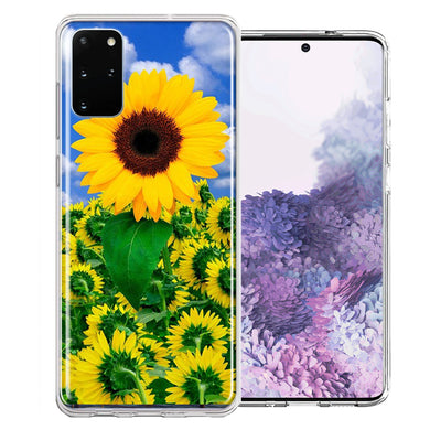 Samsung Galaxy S20 Plus Sunflowers Design Double Layer Phone Case Cover