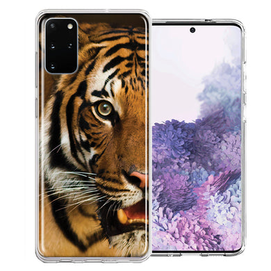 Samsung Galaxy S20 Plus Tiger Face Design Double Layer Phone Case Cover