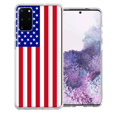 Samsung Galaxy S20 Plus USA American Flag  Design Double Layer Phone Case Cover