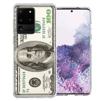 Samsung Galaxy S20 Ultra Benjamin $100 Bill Design Double Layer Phone Case Cover
