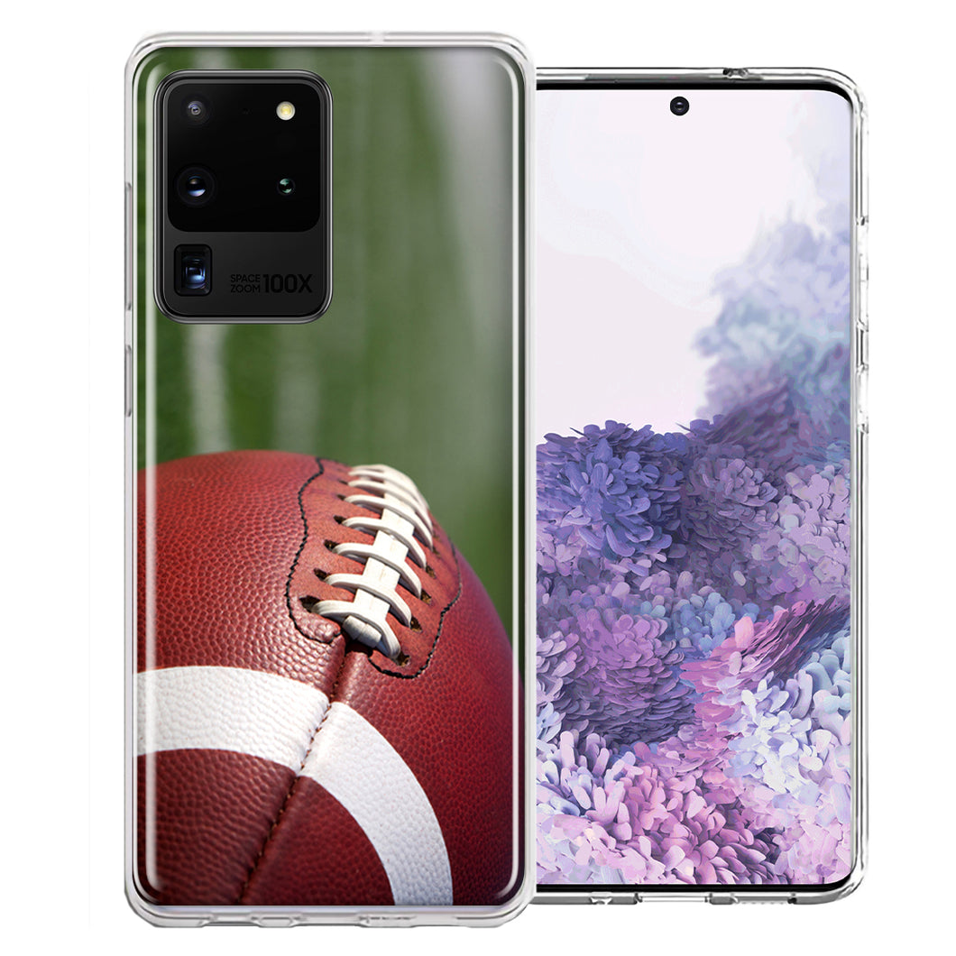 Samsung Galaxy S20 Ultra Football Design Double Layer Phone Case Cover