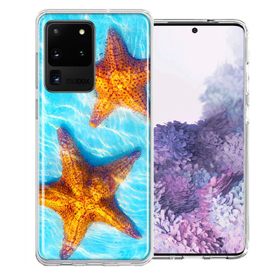 Samsung Galaxy S20 Ultra Ocean Starfish Design Double Layer Phone Case Cover