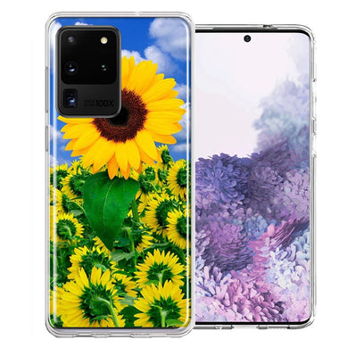 Samsung Galaxy S20 Ultra Sunflowers Design Double Layer Phone Case Cover