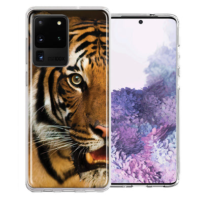 Samsung Galaxy S20 Ultra Tiger Face Design Double Layer Phone Case Cover