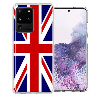 Samsung Galaxy S20 Ultra UK England British Flag Design Double Layer Phone Case Cover
