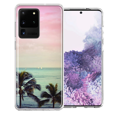 Samsung Galaxy S20 Ultra Vacation Dreaming Design Double Layer Phone Case Cover