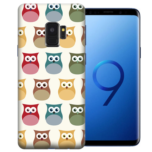 Samsung Galaxy S9 Sweet Owls Design TPU Gel Phone Case Cover