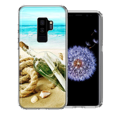 Samsung Galaxy S9 Plus Beach Message Bottle Design Double Layer Phone Case Cover