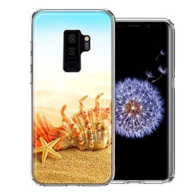 Samsung Galaxy S9 Plus Beach Shell Design Double Layer Phone Case Cover