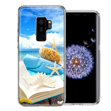 Samsung Galaxy S9 Plus Beach Reading Design Double Layer Phone Case Cover