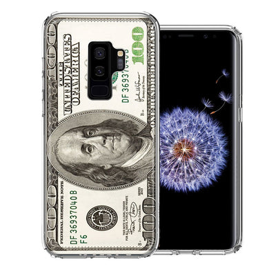 Samsung Galaxy S9 Plus Benjamin $100 Bill Design Double Layer Phone Case Cover