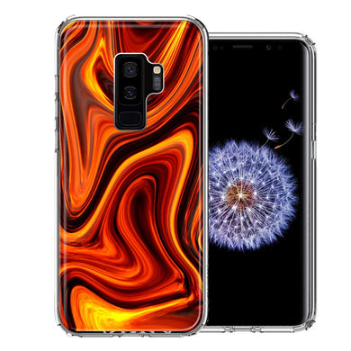 Samsung Galaxy S9 Plus Fire Abstract Design Double Layer Phone Case Cover