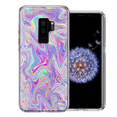 Samsung Galaxy S9 Plus Paint Swirl Design Double Layer Phone Case Cover
