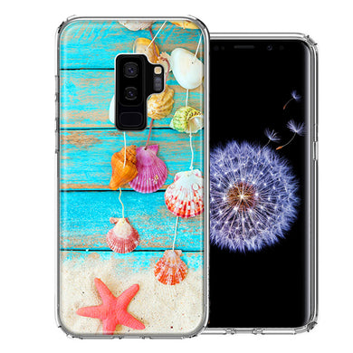 Samsung Galaxy S9 Plus Seashell Wind chimes Design Double Layer Phone Case Cover