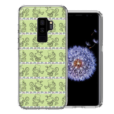 Samsung Galaxy S9 Plus Wonderland Hatter Rabbit Design Double Layer Phone Case Cover