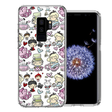 Samsung Galaxy S9 Plus Wonderland Design Double Layer Phone Case Cover