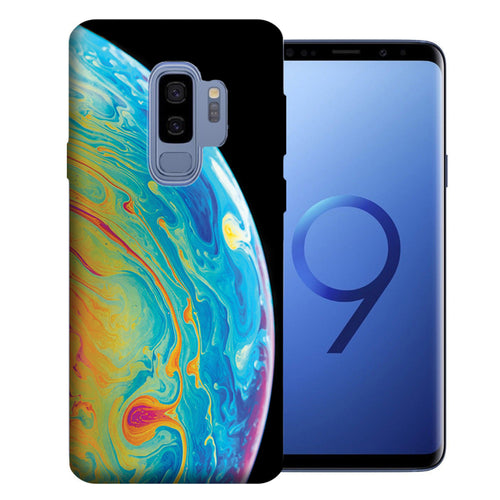 Samsung Galaxy S9 Plus Soap Bubble Design TPU Gel Phone Case Cover