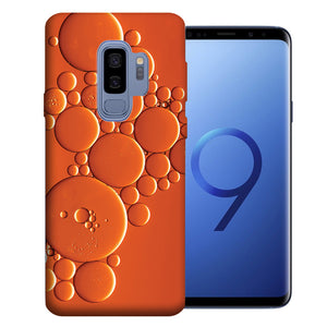 Samsung Galaxy S9 Plus Orange Bubbles Design TPU Gel Phone Case Cover