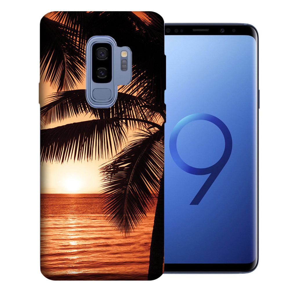 Samsung Galaxy S9 Plus Paradise Sunset Design TPU Gel Phone Case Cover