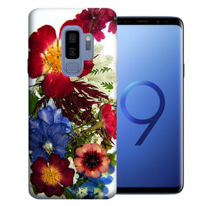 Samsung Galaxy S9 Plus Printed Pressed Blossoms Design TPU Gel Phone Case Cover
