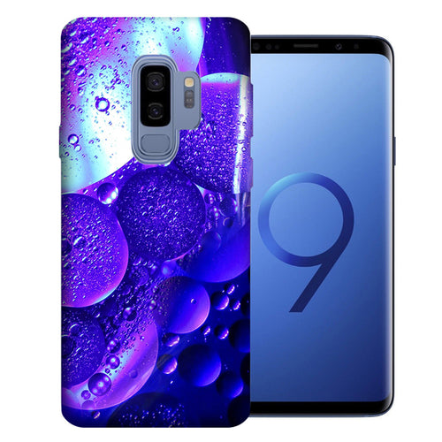 Samsung Galaxy S9 Plus Purple Bubbles Design TPU Gel Phone Case Cover