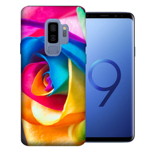 Samsung Galaxy S9 Plus Rainbow Rose Design TPU Gel Phone Case Cover